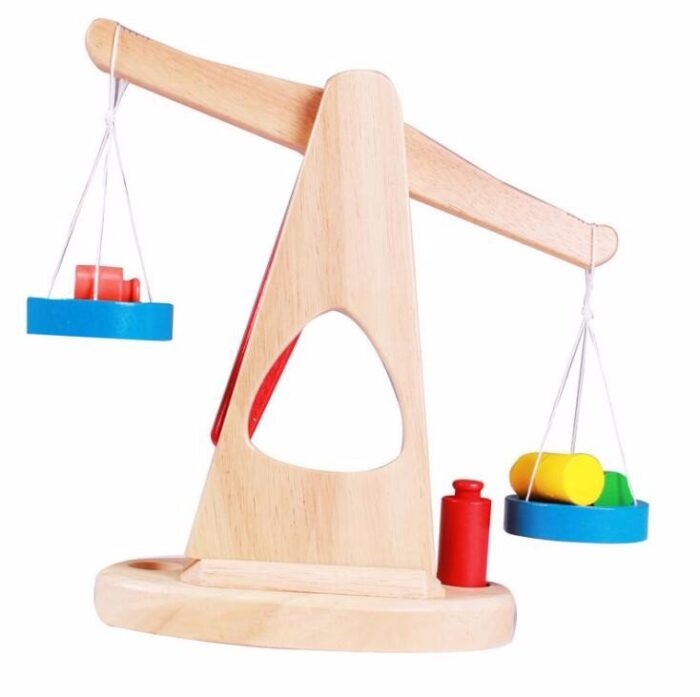 Wooden Weighing Scale For Kids - Big