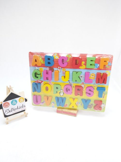 Wooden Chunky Alphabet - Colorful Board
