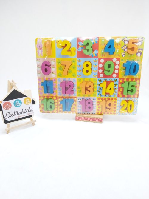 Wooden Chunky Number - Coloful Board