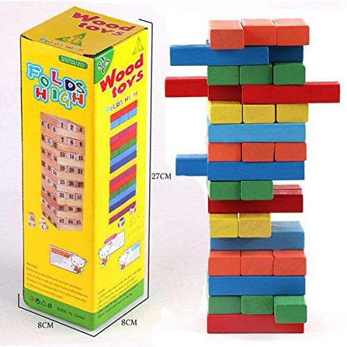 Wooden Jenga Blocks - Color