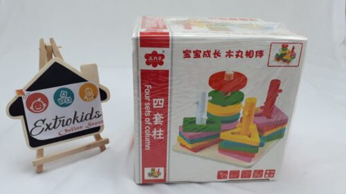 Wooden Four Column Shape Sorter