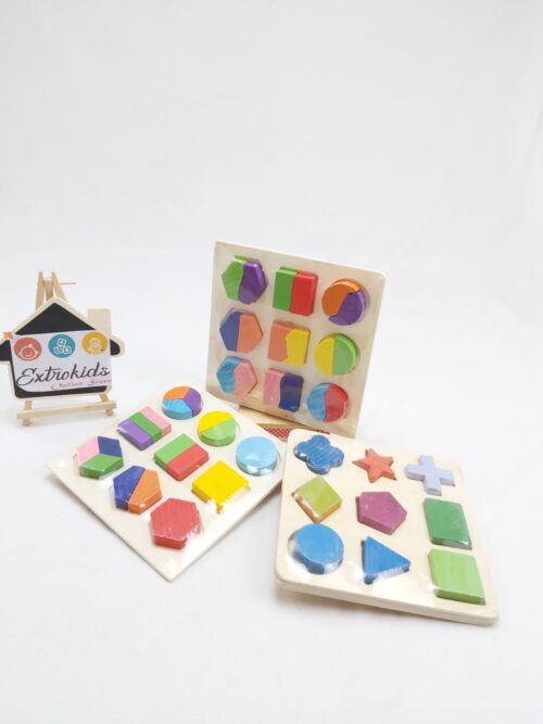 3 IN 1Shape Sorter Geometric Puzzle - Small