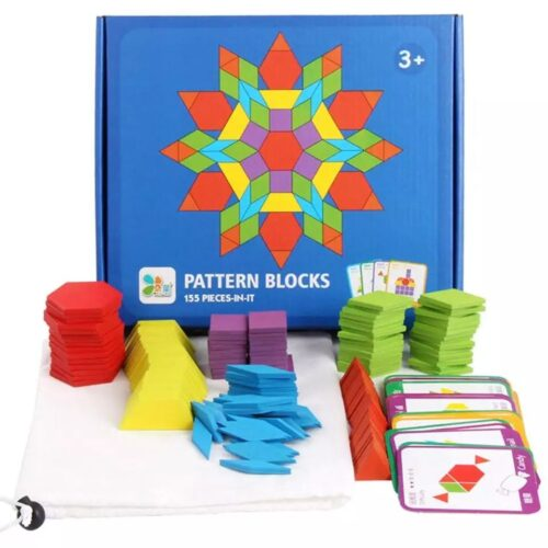 Creative woooden Pattern Blocks - Big - Dimond Shapes