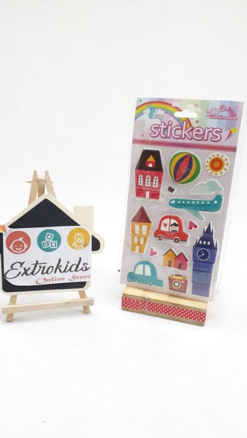 7D Stickers - Balloon + House