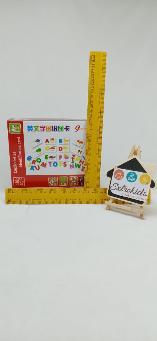 Wooden Alphabet Learning Kit - Letter matching card Game