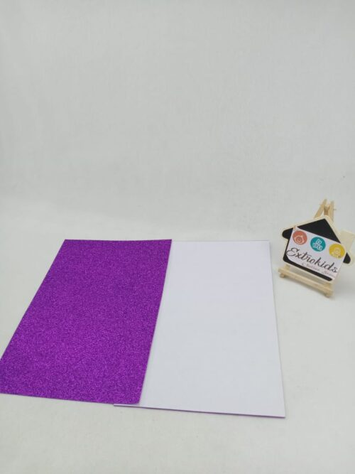 Craft Foam Sheet - Glitter - Sticker type - Light Pink Color - A4 Size - 10 Sheets in a pack