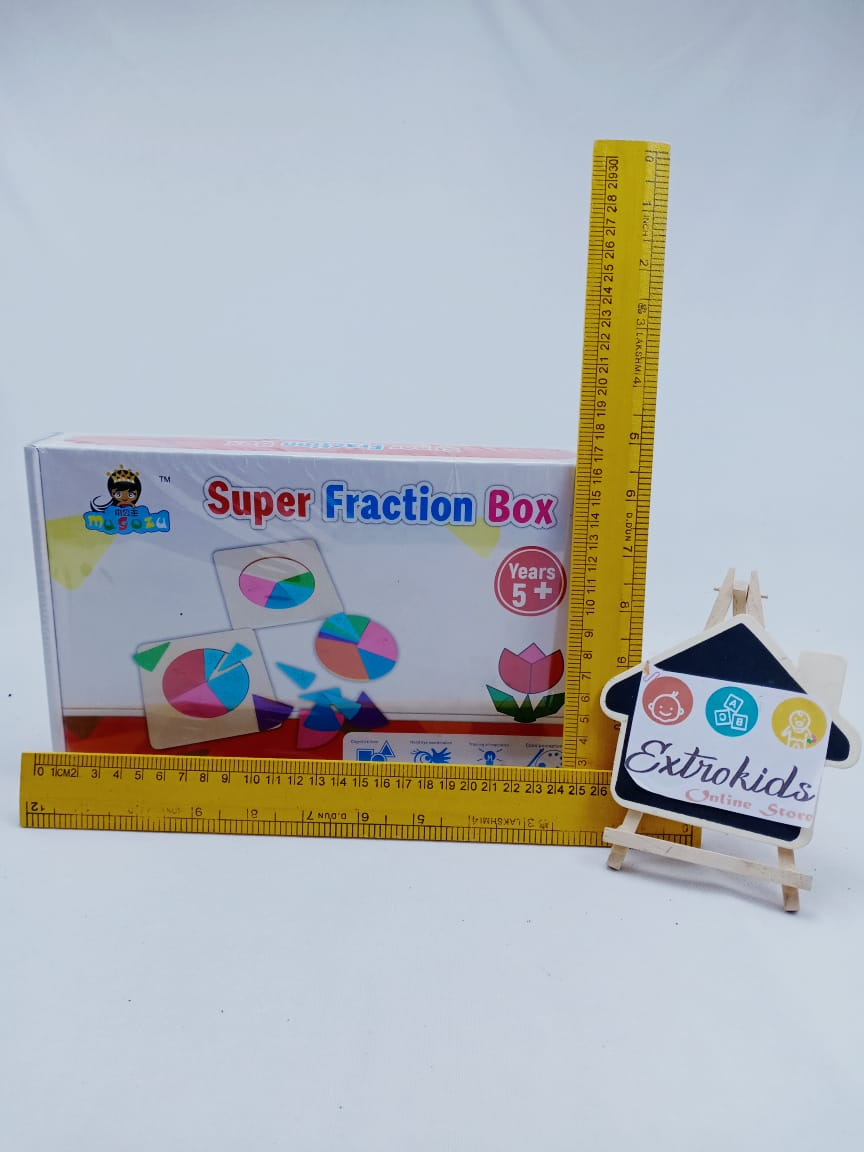 Wooden Educational Math FractionsToy - Teach Maths Fractions in a Fun way