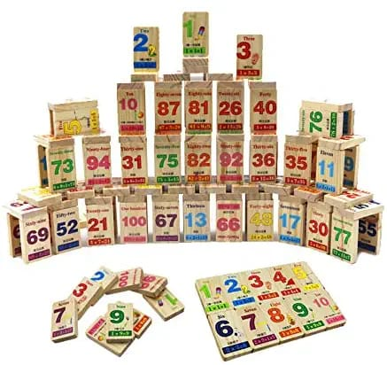 Wooden Toy - Domino puzzle - Alphabets - 100 Pcs in a Box