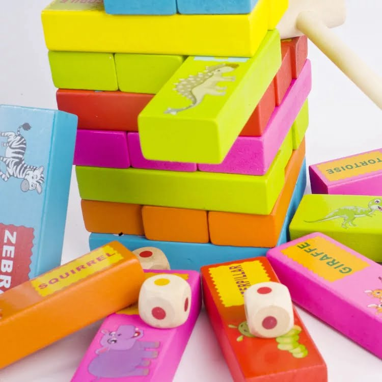 Wooden Toy - high quality - Cartoon jenga Puzzle