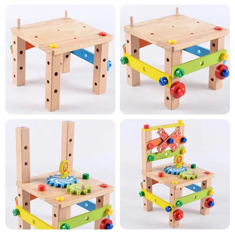 Wooden Assembling Chair Toy for kids