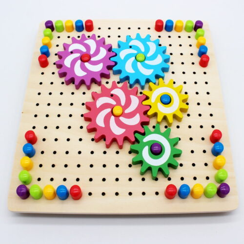Wooden Toy - Rotating Gear Puzzle for kids