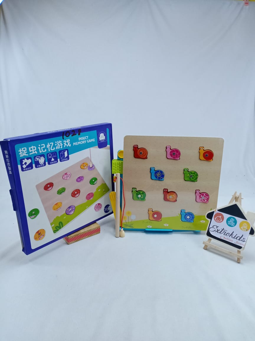 Wooden Toy - Memory game - Insect Model