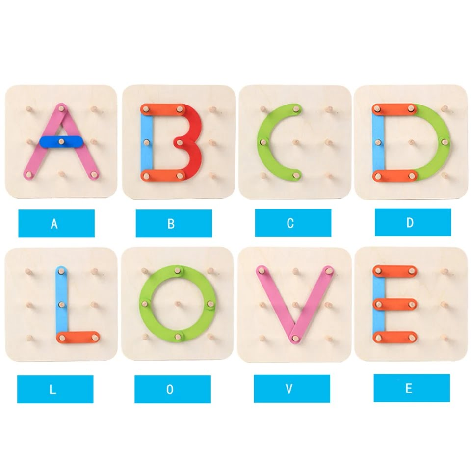 Wooden Learning cum Puzzle - Collage Alphabets and Shapes