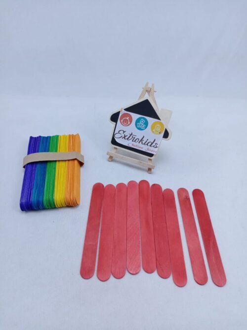 Icecream Stick - Jumbo Size - Color - 50 Pcs