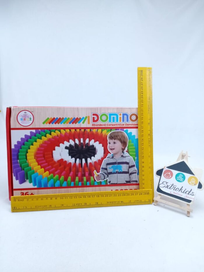 Wooden Domini Colorful - 100 Pcs