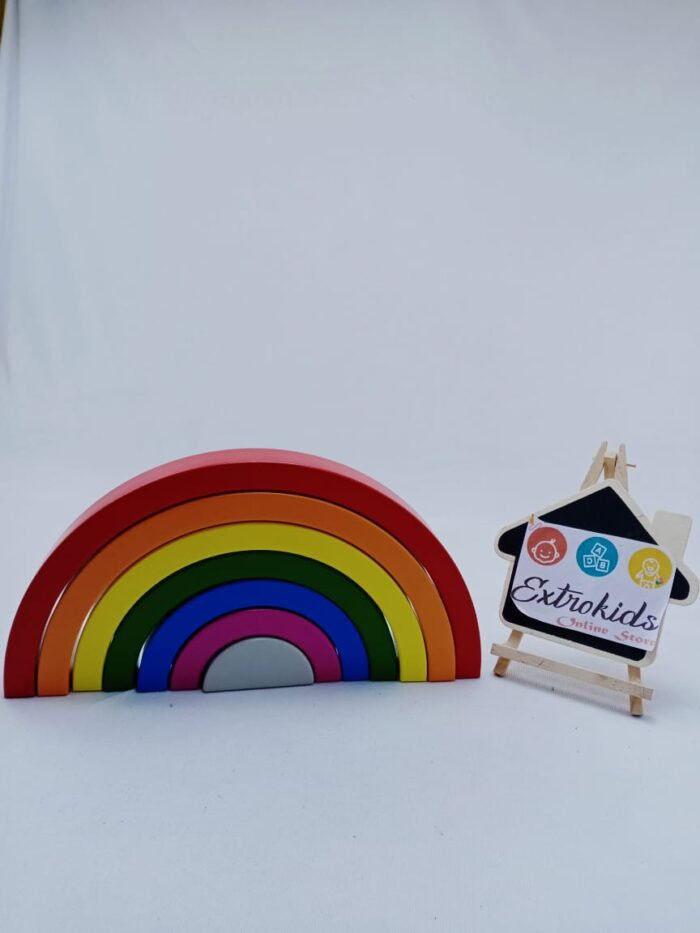 Wooden Rainbow Toy - Open Ended Toy - High Quality