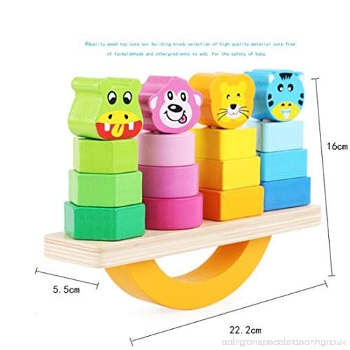 Wooden Toy - Animal Block Stacking Cum Balancing toy