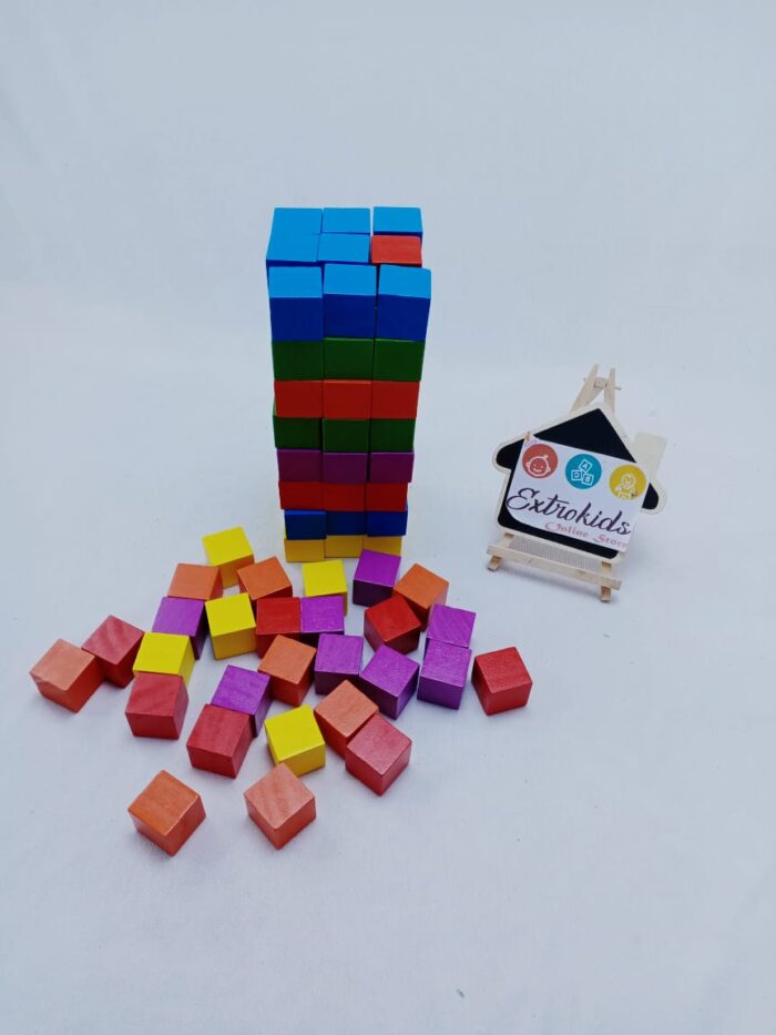 Wooden Colorfull Blocks - Open ended - Stacking , building , color sorting