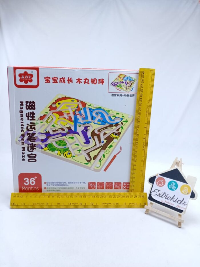 Wooden Magnetic Pen Maze Toy - Pet Animal