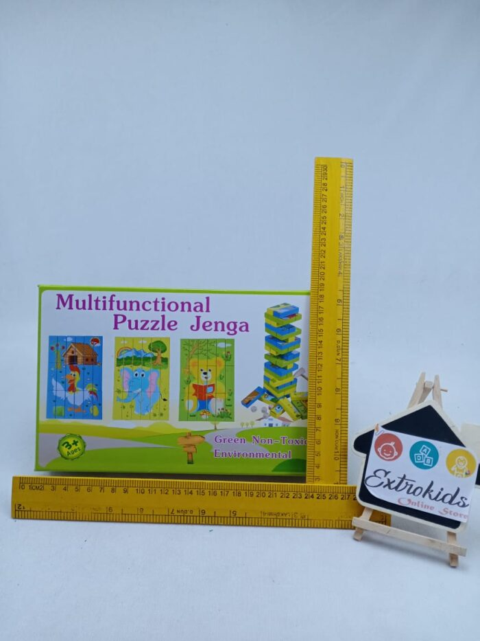 Wooden Toy - Multi Functional Animal Puzzle - Jenga Blocks