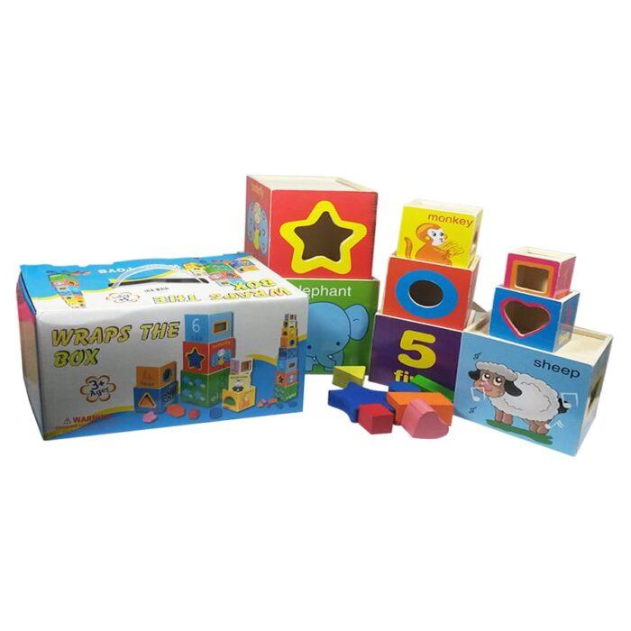 Wooden Mega Stacking Blocks for Toddlers