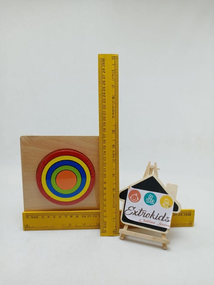 Wooden Rainbow Toy - Open Ended Toy - Hexagon Shape With Tray