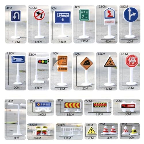 Signal Signs - Miniatures - White Color