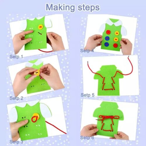Wooden Threading  Clothes String Button Toy  Funny Button Threading Board Rope Game  Early Education Toy for Child Age 35