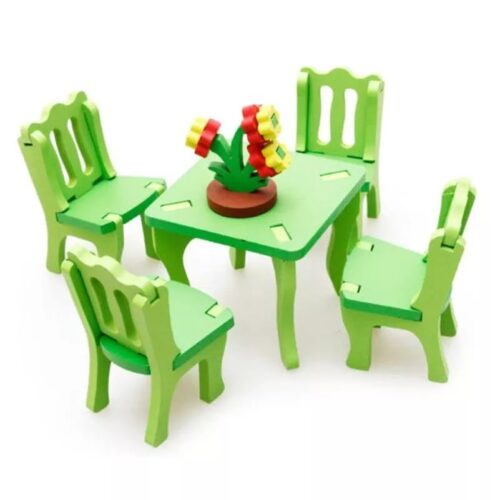 3D assembling furniture Chair Wooden blocks toys, Model Building Kits Building Block Toy DIY House,Assembly Furniture Toys Baby  Chair 1