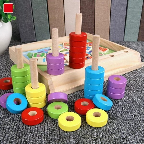 Extrokids Wooden Infant Children Early Education Educational Toys Wooden Digital Cognitive Puzzle Intelligence Box Arithmetic Learning Box