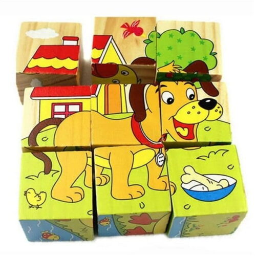 Hand Grab Board Montessori Wooden Puzzle Toys Baby Early Educational Learning Toys for Children Tiny Animal 3D Jigsaw Puzzle