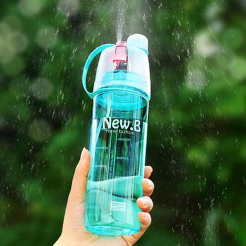 Extrokids Spray Water Bottle 600 ML,Plastic Spray Water Bottle 600ml Outdoor Sport Drinking Cup with Mist Hydration