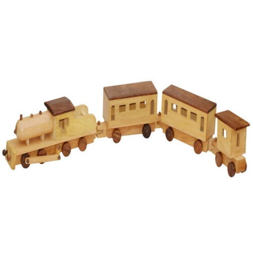 Extrokids  Jumbo Wooden Train Replica Toy - Brown