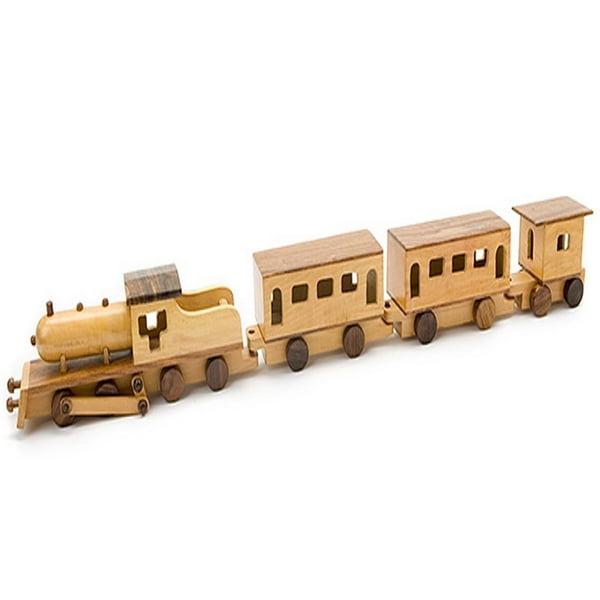 Extrokids  Jumbo Wooden Train Replica Toy - Brown