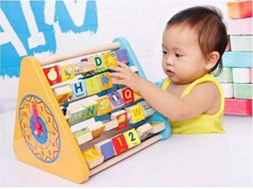 Kids Activity Triangle 5 Side Learn Shelf Math Calculation Toy  (Multicolor)