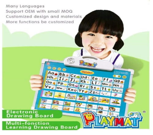 Musical Learning Board, Battery Operated Musical Alphabet Toy with Drawing Board , Educational Learning Board