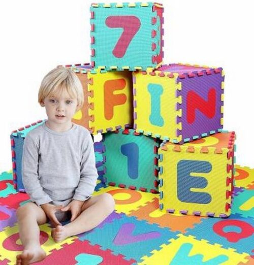 KIDS PLAY JUMBO MAT COLORFUL FOAM TEACHING EDUCATION TOOLS TOY MATS CHILDREN 26 PCS ALPHABET FOR GIFT  (26 Pieces)