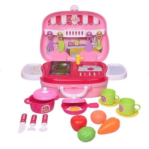 Kitchen Food Playset Little Chef Set, Kitchen Cooking Pretend Set for Kids (Set of 26 Pcs))