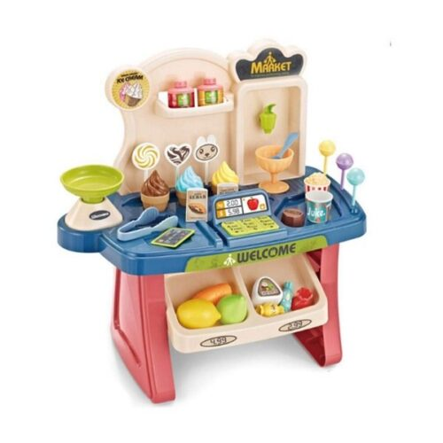 Supermarket Shop Play Set Toy with Sound Effects, Multi Color