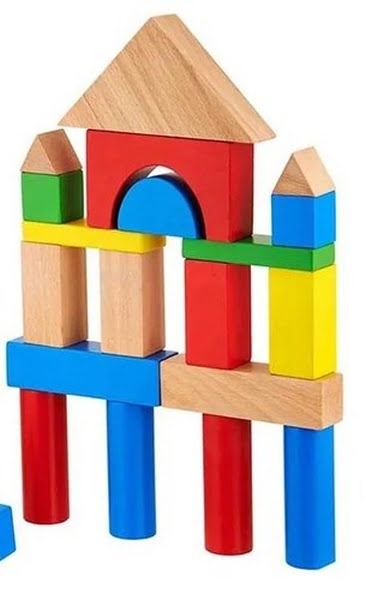 Multicolor Wooden Colour Full Blocks 20 Pc Set - EK1490
