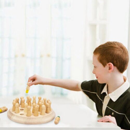 Classic Wooden Color Memory Chess Intelligence Game Kids Toy Gift for Leisure Fun - EK1495