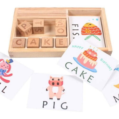 Wooden 3-in-1 Spell Learning Game - EK1498