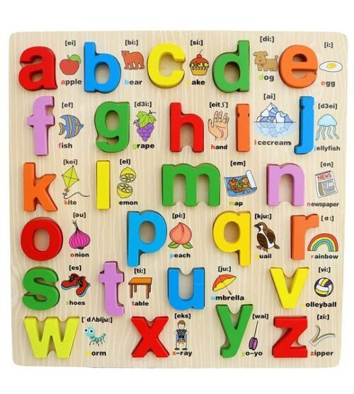 Extrokids Wooden Small Letter Alphabets board Puzzle