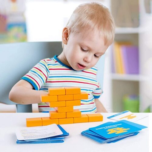 Extrokids Wooden creative building game Blocks for Kids Children Brain Teasers Stacking and Stress Relief Adults Bricks  Educational Puzzle Game Gifts Toy - EK1578