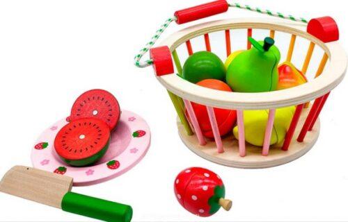 Extrokids Wooden fruit basket Fun Toy - EK1580