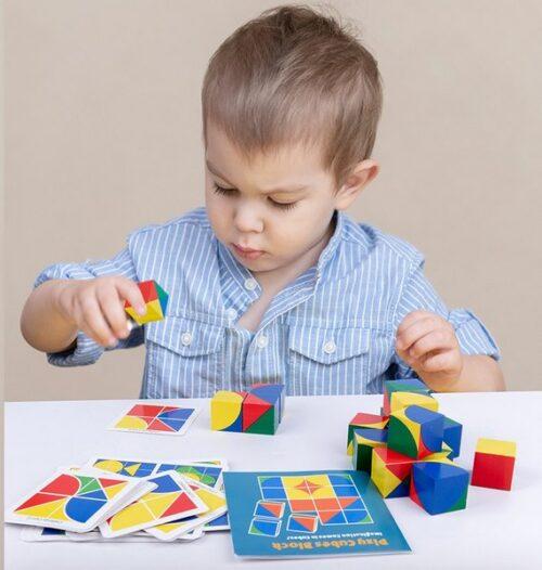 Extrokids Wooden  pixy cubes block Toy - EK1589