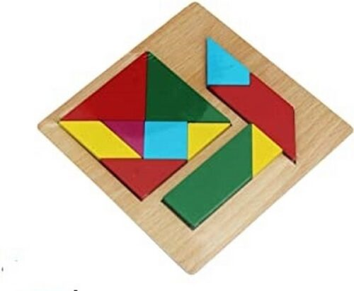Extrokids Wooden 6X6 PUZZLE XJ Seven and Four Piece Colorful Learning Educational Board  Puzzle Toys for Kids - EK1613