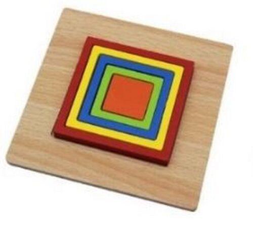 Extrokids Wooden Rainbow 5 Color Board  Square Puzzle - EK1615