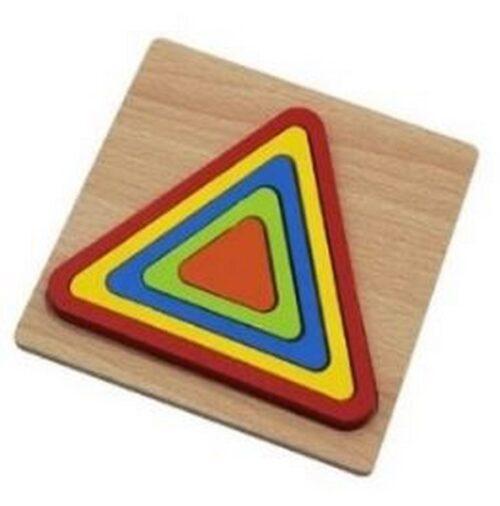 Extrokids Wooden Rainbow 5 Color Board Elliptic Puzzle - EK1617