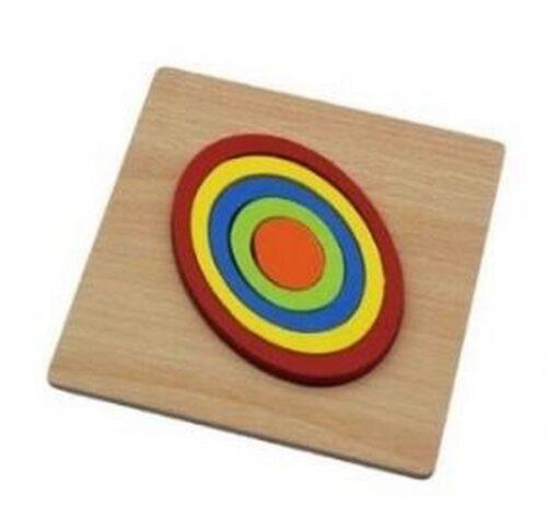 Extrokids Wooden Rainbow 5 Color Board Triangle Puzzle - EK1618